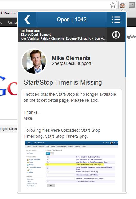 SherpaDesk Chrome Extension 3