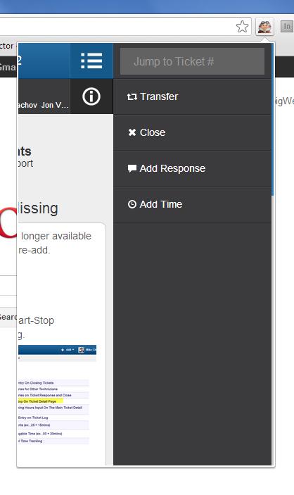 SherpaDesk Chrome Extension 4