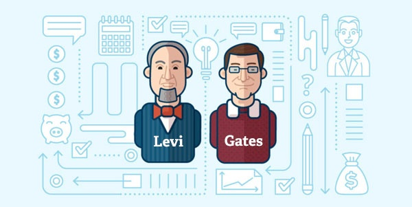 levi and gates tech startup entrepreneurs