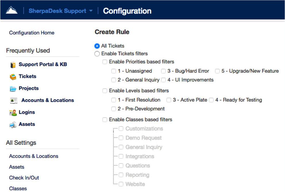 configuration on App