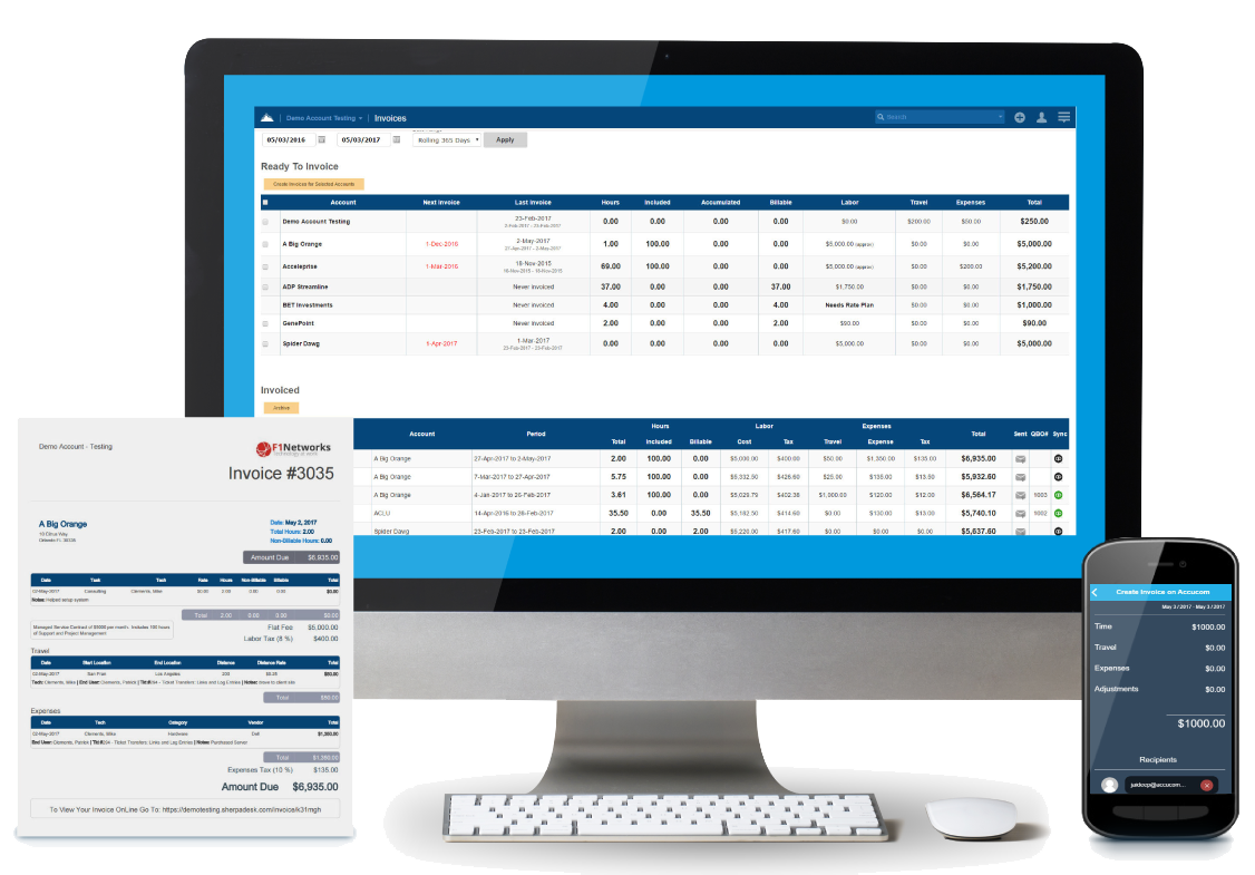 Send invoices quickly and track payments